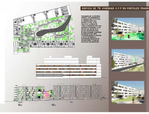 Concurso Edificio de 76 viviendas V.P.P. EN Móstoles, Madrid