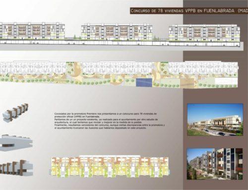 Concurso de 78 viviendas V.P.P.B. en Fuenlabrada, Madrid